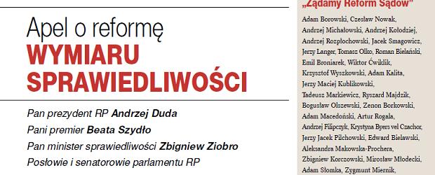 """[Formularz do pobrania] """"Apel o reformę wymiaru sprawiedliwości"""" – Podpisz i wyślij!"""
