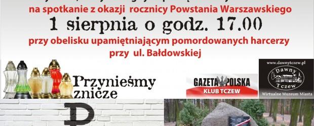 Tczew – spotkanie z okazji rocznicy Powstania Warszawskiego – 1 sierpnia