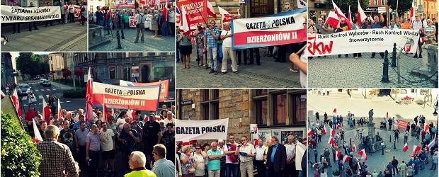 """""""Polska zmienia się na lepsze!"""" Wiece poparcia dla rządu Prawa i Sprawiedliwości odbył się w Dzierżoniowie – 25.07.2017. i Wałbrzychu – 03.08.2017."""