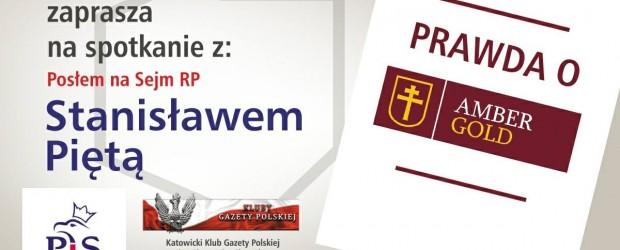 Katowice – spotkanie z posłem Stanisławem Piętą, 11 sierpnia, g. 17