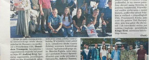 Klub GP Ostrowiec Św. w Warszawie na wizycie Donalda Trumpa