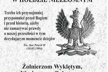 Strzelin – Uroczyste odsłonięcie i poświęcenie tablicy  poświęconej Żołnierzom Wyklętym, 15 sierpnia