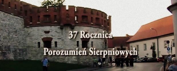 Krakowskie obchody 37 rocznicy Porozumień Sierpniowych (wideo)