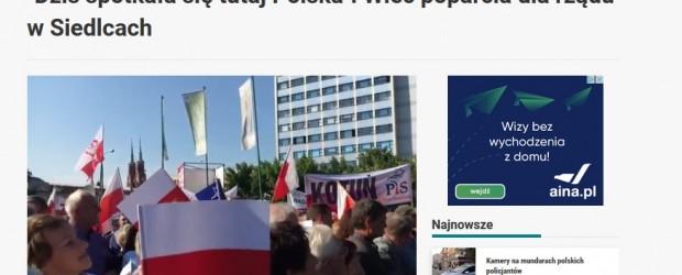 Wiec poparcia dla rządu w Siedlcach