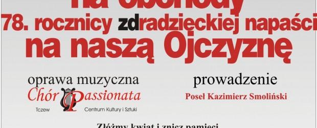 Tczew – obchody 78. Rocznicy radzieckiej napaści na Polskę, 17 września, g. 17
