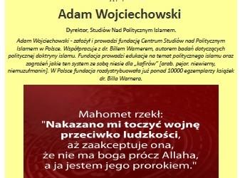 """Tychy – prelekcja pt."""" Polityczny Islam – zagrożenie dla Europu"""", 2 października"""