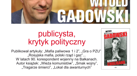 Racibórz – Zaproszenie na spotkanie z Witoldem Gadowskim