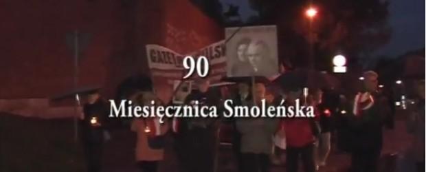Kraków: 90 miesięcznica tragedii smoleńskiej (wideo)