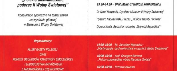 Zaproszenie na całodzienną konferencję w Muzeum II Wojny Światowej w Gdańsku