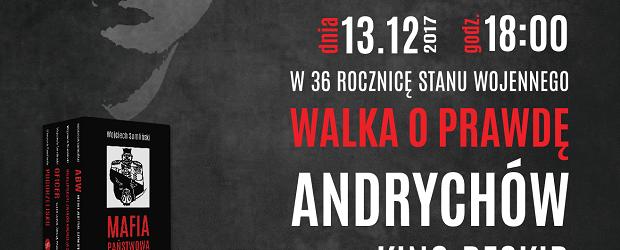 Andrychów II – spotkanie autorskie  z dziennikarzem śledczym Wojciechem Sumlińskim, 13 grudnia