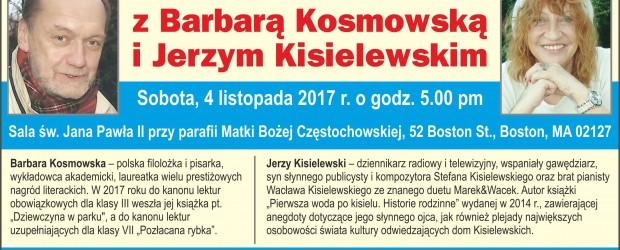 Boston: Spotkanie z Barbara Kosmowska i Jerzym Kisielewskim