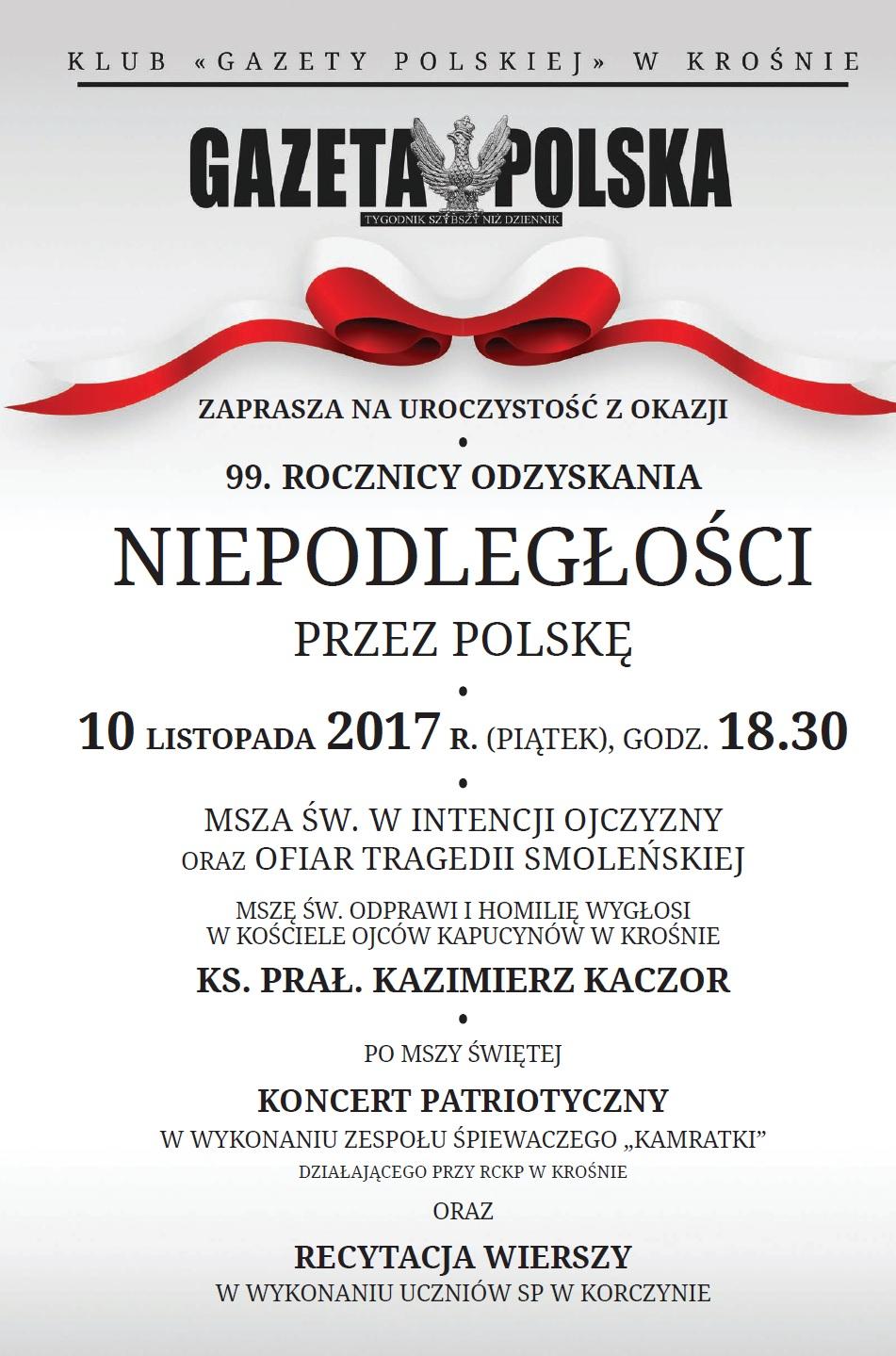 Kluby Gazety Polskiej Krosno Uroczystość Z Okazji 99