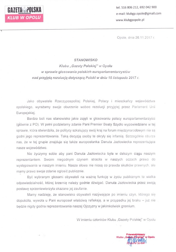 Opole stanowisko 2017