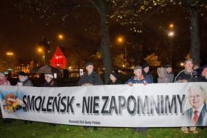 Poznań: grudniowa miesięcznica smoleńska