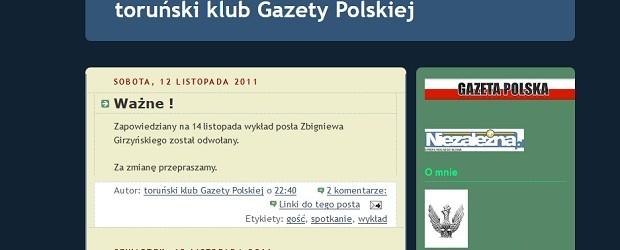"""Archiwum wydarzeń Klubu """"Gazety Polskiej"""" w Toruniu"""