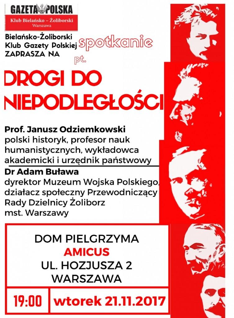 Warszawa Bielany Droga do niepodleglosci 2017