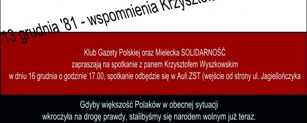 Mielec –  spotkanie z Krzysztofem Wyszkowskim, 16 grudnia