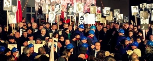 Rocznica stanu wojennego w Warszawie (wideo)