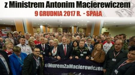 [FOTOGALERIA] Ekskluzywne spotkanie z Ministrem Antonim Macierewicze – Spała 2017 r. (DUŻO ZDJĘĆ)