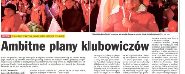 Ambitne plany klubowiczów śląskich