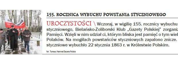 Warszawa: 155. rocznica wybuchu powstania styczniowego