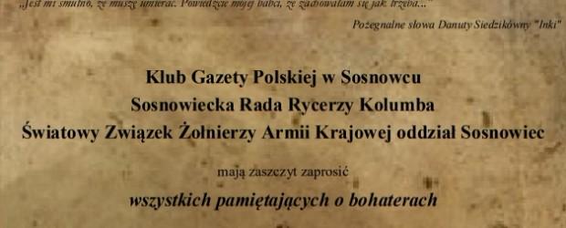 Sosnowiec: Zaproszenie – Msza Św w intencji Żołnierzy Wyklętych 1.03.2018