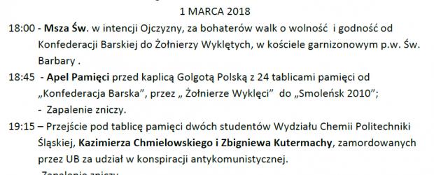 Gliwice: Zaproszenie – 1 marca obchody Pamięci Żołnierzy Wyklętych