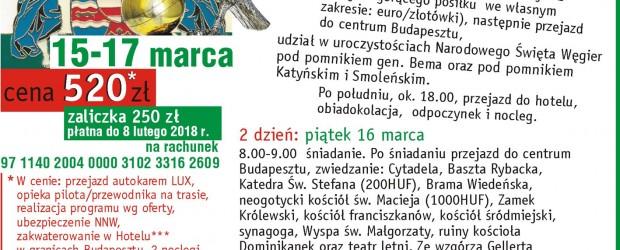 Knurów: Organizujemy wyjazd na Węgry.