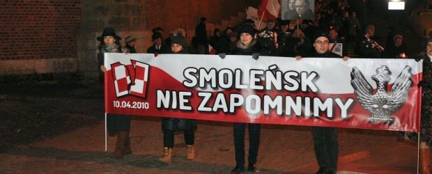 Kraków: Miesięcznica tragedii smoleńskiej – 10 grudnia
