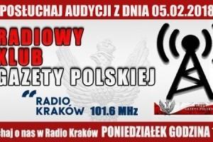 """POSŁUCHAJ AUDYCJI: """"Radiowy Klub Gazety Polskiej"""" – 05.02.2018 r.(audio)"""
