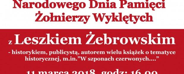Wadowice – Zaproszenie – Spotkanie z Leszkiem Żebrowskim 11.03 godz. 16.00