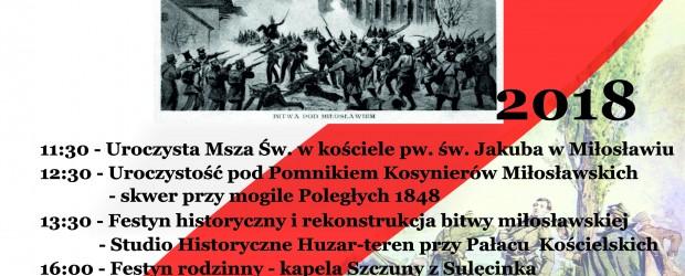 Miłosław – Zaproszenie na obchody 170.rocznicy Bitwy Miłosławskiej (28.04)