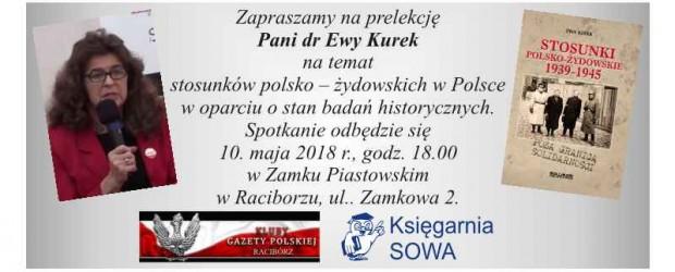 Racibórz- Zaproszenie na prelekcję dr Ewy Kurek (10.05 godz. 18:00)