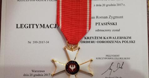 Tychy: Członek tyskiego Klubu Gazety Polskiej odznaczony Krzyżem Kawalerskim Orderu Odrodzenia Polski