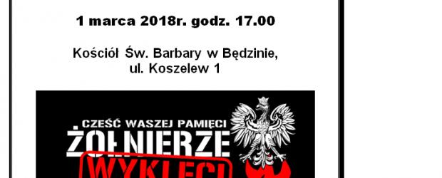 Dąbrowa Górnicza i Będzin II- Zaproszenie na Mszę w intencji Żołnierzy Wyklętych – 1.03.2018r