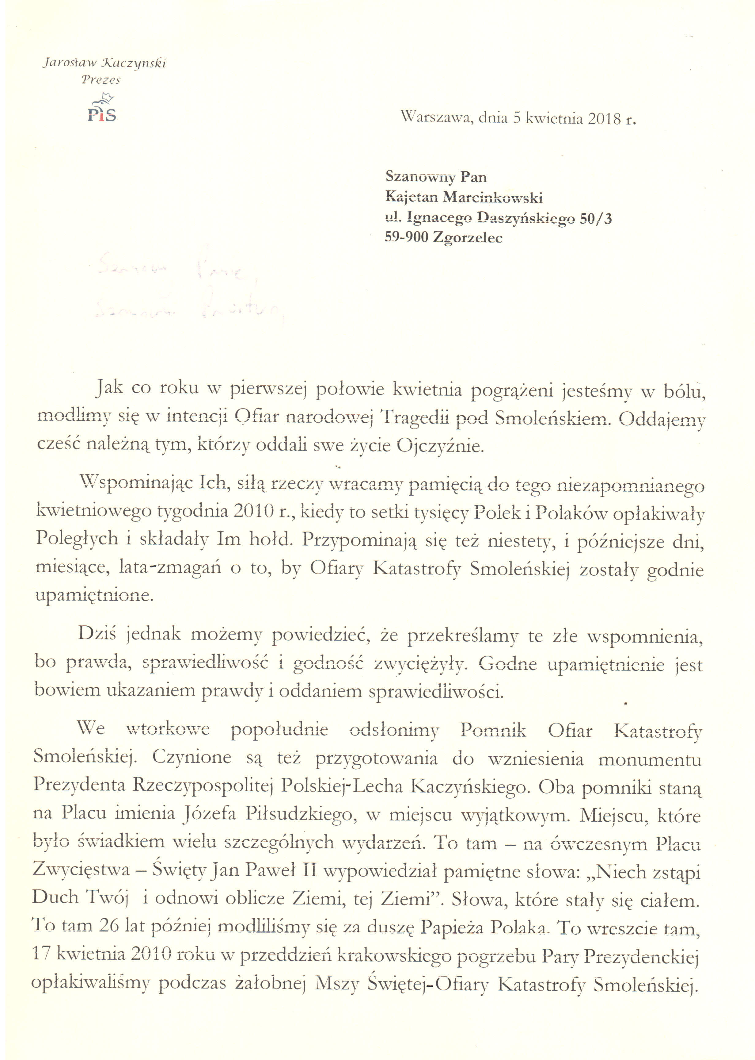 Zgorzelec Lis Kaczynski 5 kwietnia 2018 (1)