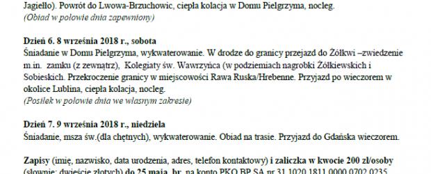 Gdańsk II- Zaproszenie na wyjazd do Lwowa