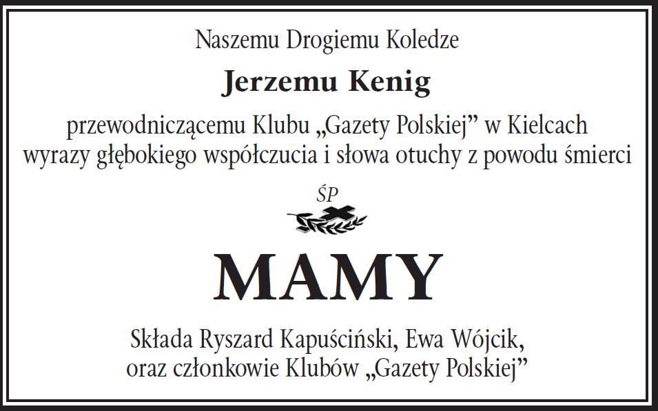 kondolencje Kielce