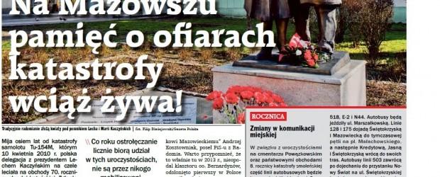 Na Mazowszu pamięć o ofiarach katastrofy wciąż żywa!