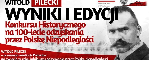 WYNIKI KONKURSU – I EDYCJA Konkursu Historycznego na 100-lecie odzyskania przez Polskę Niepodległości