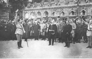 Armia polska we Francji - powitanie generała Józefa Hallera, ze zbiorów Narodowego Archiwum Cyfrowego