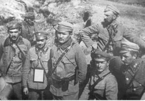 Oficerowie 6 batalionu I Brygady Legionów, ze zbiorów Narodowego Archiwum Cyfrowego