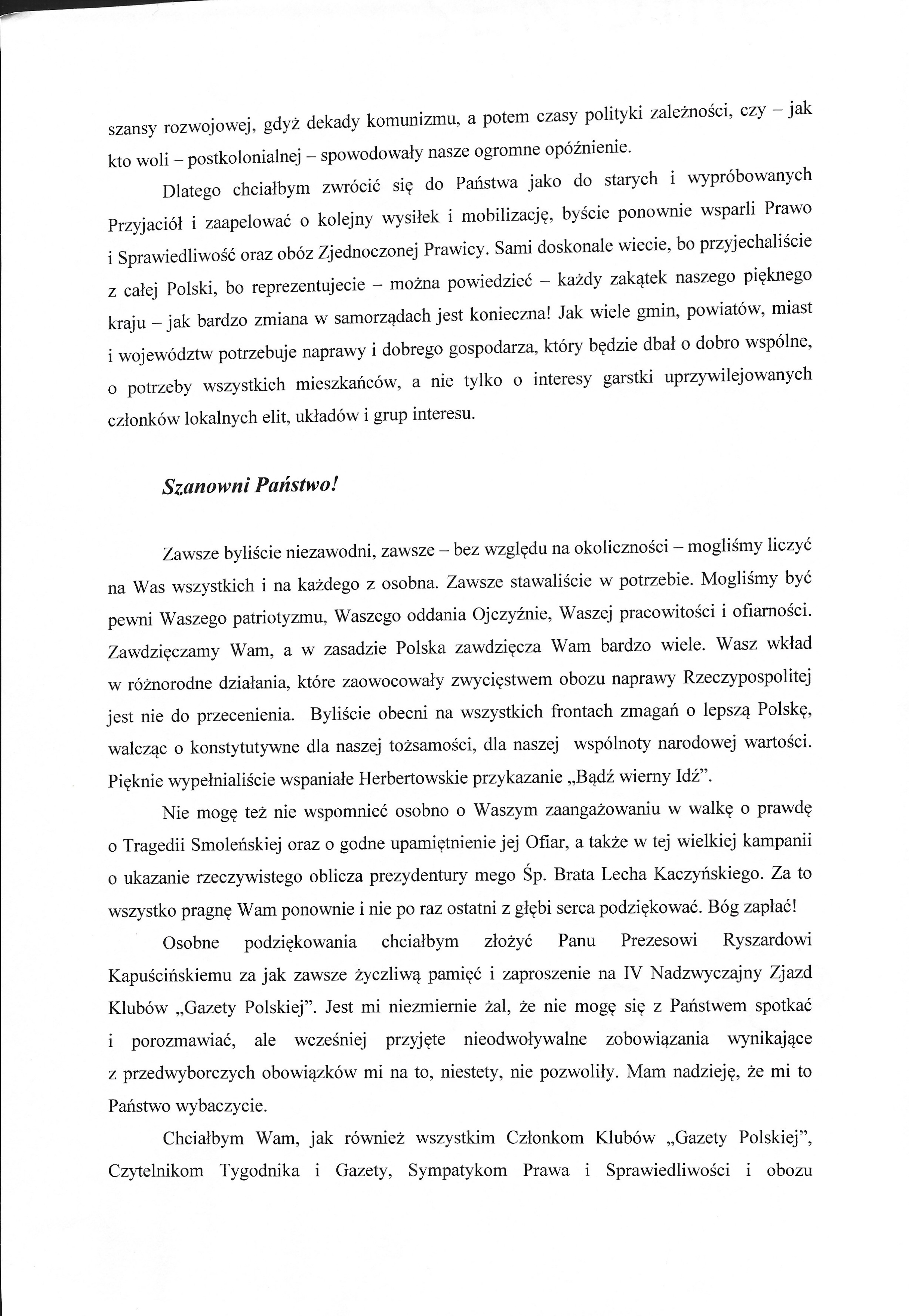 List J. Kaczynskiego 2018a