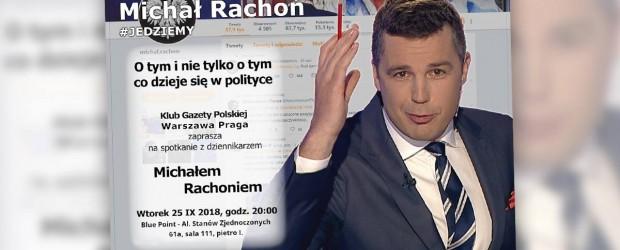 WARSZAWA PRAGA– spotkanie z dziennikarzem Michałem Rachoniem, 25 września