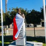 """Pomnik marszałka J.Piłsudskiego w Wolborzu (foto. Fundacja Klubów """"GP"""")"""