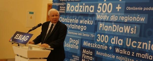 Elbląg II: Spotkanie Premiera Jarosława Kaczyńskiego z mieszkańcami Elbląga