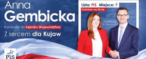 Anna Gembicka kandydat do Sejmiku Województwa (kujawsko-pomorskie)