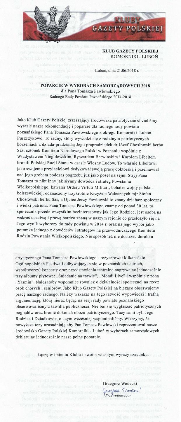 Komorniki Tomasz Pawłowski WS2018a