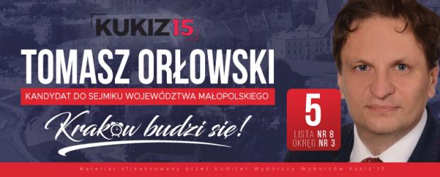Wybory samorządowe 2018r. – KRAKÓW-NOWA HUTA Tomasz Orłowski