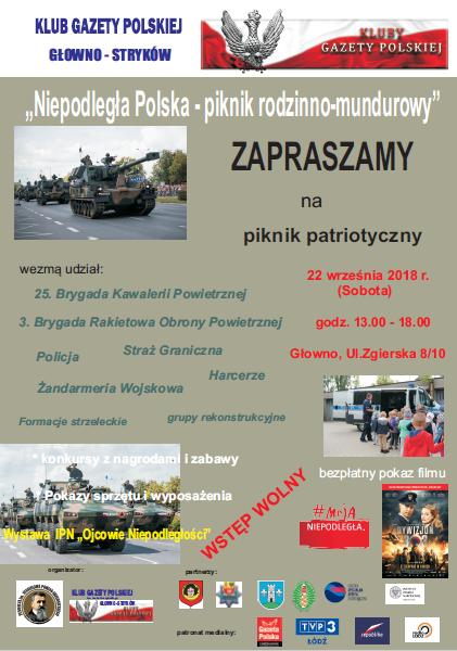 Plakat Głowno Stryków1